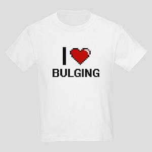 I Love Bulging Digitial Design T-Shirt