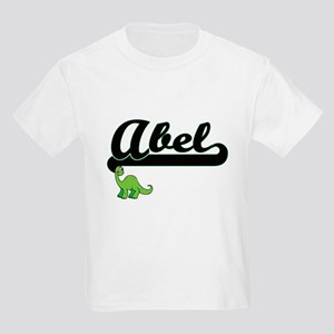 Abel Classic Name Design with Dinosaur T-Shirt