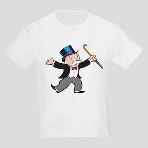 Monopoly Dancing Rich Uncle Pen Kids Light T-Shirt