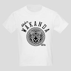 Black Panther Made Circle Kids Light T-Shirt