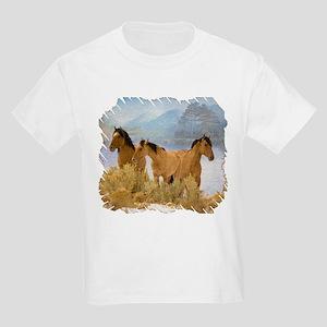 Buckskin Horses Kids Light T-Shirt