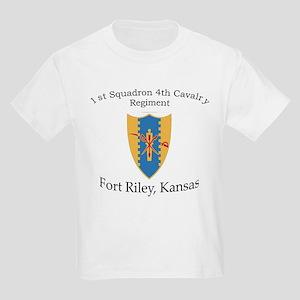 1st Squadron 4th Cavalry Kids Light T-Shirt