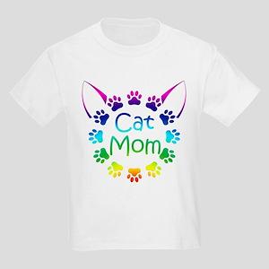 """""""Cat Mom"""" Kids Light T-Shirt"""