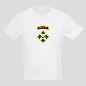 4th Infantry Div with Recon T Kids Light T-Shirt
