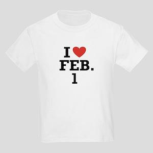 I Heart February 1 Kids T-Shirt