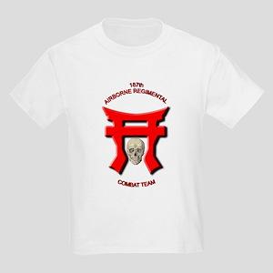 187th Airborne Unit Combat Te Kids Light T-Shirt