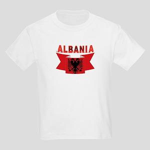 flag Albania Ribbon Kids Light T-Shirt