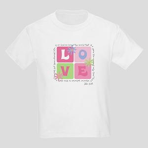 John 3:16 Kids Light T-Shirt