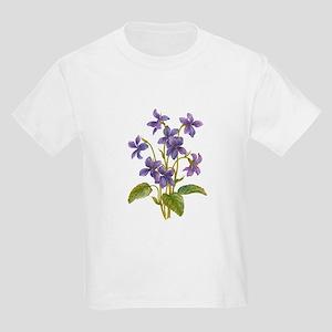 Purple Violets Kids Light T-Shirt