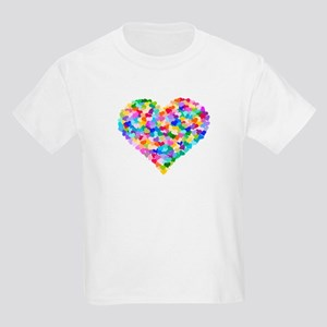 Rainbow Heart of Hearts Kids Light T-Shirt