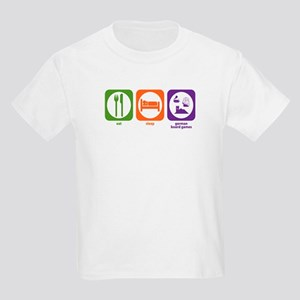 Eat Sleep German Board Games Kids Light T-Shirt