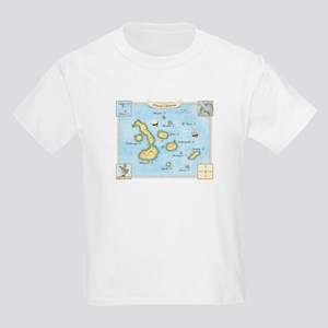 Galapagos Archipelago Map Kids Light T-Shirt