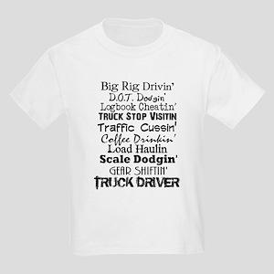 Big Rig Drivin' Kids Light T-Shirt