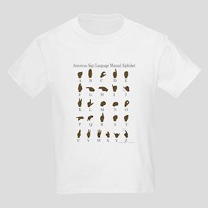 ASL Alphabet Kids Light T-Shirt