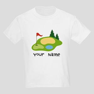 Personalized Golfing Kids Light T-Shirt