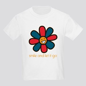 Smile and Let It Go Kids Light T-Shirt