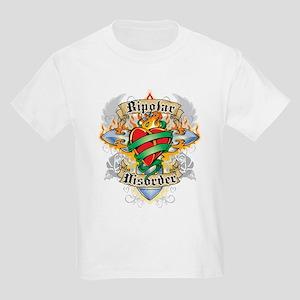 Bipolar Disorder Cross & Hear Kids Light T-Shirt