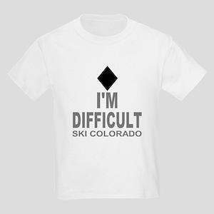I'm Difficult Ski Colorado Kids Light T-Shirt