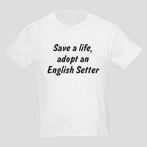 Adopt English Setter Kids Light T-Shirt