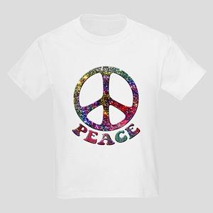 Jewelled Peace Symbol Kids Light T-Shirt