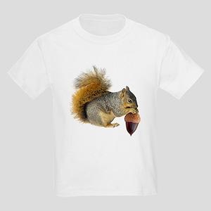 Squirrel Eating Acorn Kids Light T-Shirt