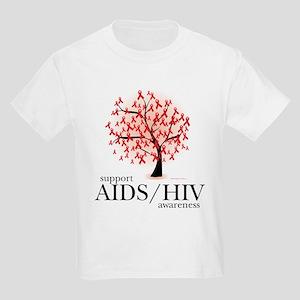 AIDS/HIV Tree Kids Light T-Shirt