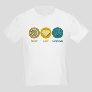 Peace Love Acupuncture Kids Light T-Shirt