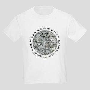 MAP/CARTOGRAPHY Kids Light T-Shirt