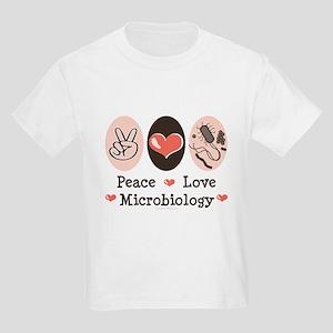 Peace Love Microbiology Kids Light T-Shirt