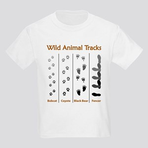 Wild Animal Tracks Ash Grey T-Shirt