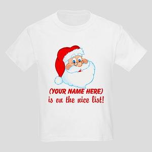 Personalized Nice List Kids Light T-Shirt