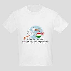 Stork Baby Hungary USA Kids Light T-Shirt