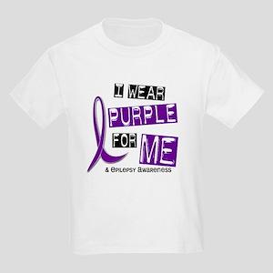 I Wear Purple 37 Epilepsy Kids Light T-Shirt