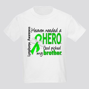 Lymphoma HeavenNeededHero1 Kids Light T-Shirt