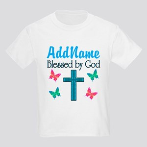 BLESSED BY GOD Kids Light T-Shirt