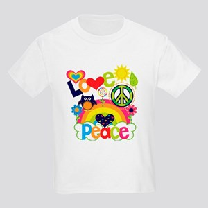 Love and Peace Kids Light T-Shirt