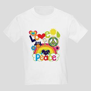 Love and Peace Kids Light T-Shirt