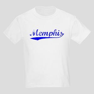 Vintage Memphis (Blue) Kids Light T-Shirt