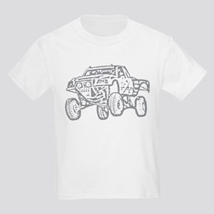 Off-Road Race Truck Grey Kids Light T-Shirt