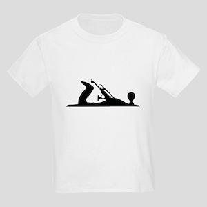 Hand Plane Silhouette Kids Light T-Shirt