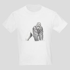 Tatu gorilla portrait Kids Light T-Shirt