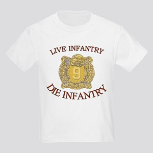 4th Bn 9th Infantry Kids Light T-Shirt