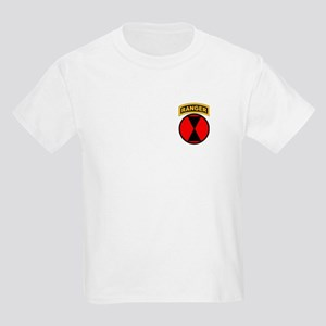 7th Infantry Div with Ranger Kids Light T-Shirt
