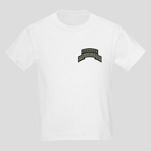 1st Ranger Bn with Ranger Tab Kids Light T-Shirt