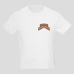1st Ranger Bn Scroll/ Tab Des Kids Light T-Shirt