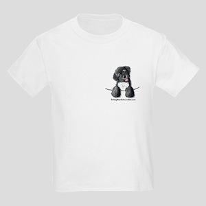 Pocket Black Schnoodle Kids T-Shirt