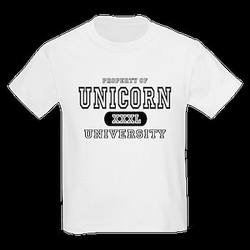 Unicorn University Property Kids TShirt Unicorn University T - Property of t shirt template