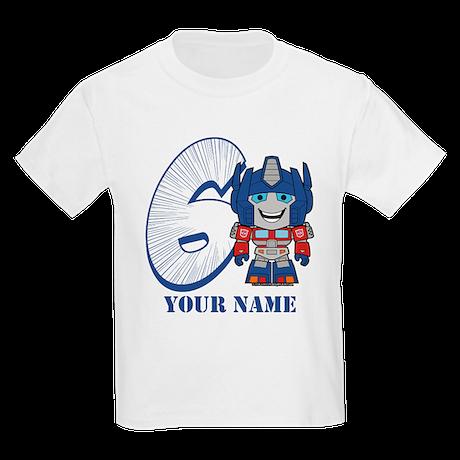 Personalized 6 Optimus Prime T-shirt