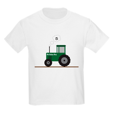 Tractor Birthday! Kids Light T-Shirt