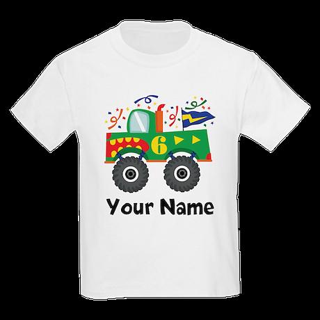Personalized 6th Birthday Monster Truck Kids Light